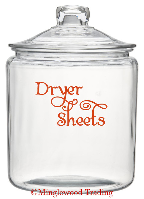 "DRYER SHEETS 5"" x 3"" Vinyl Decal Sticker - Laundry Room Fresh DIY SWASH"