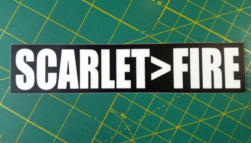 "SCARLET>FIRE 7"" x 1.5"" Die Cut Decal - Grateful Dead Sticker - Jerry Garcia - Scarlet Begonias"