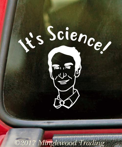 It's Science! Vinyl Sticker - Scientist Bowtie - DIe Cut Decal