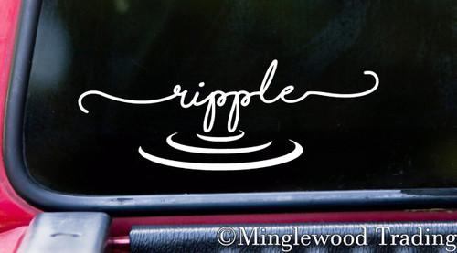 Ripple Vinyl Decal - Water Wave Zen Still - Die Cut Sticker