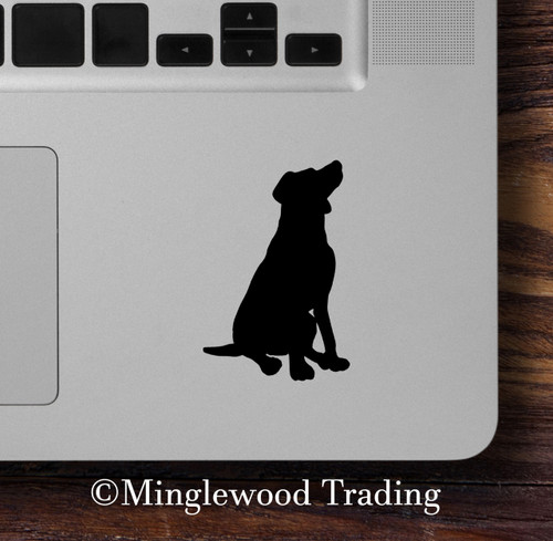 "2x SITTING LAB 2.5"" Vinyl Decal Stickers - Labrador Retriever - Dog Puppy"