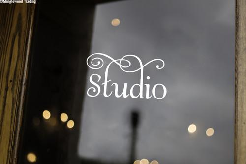 """STUDIO 6.5"""" x 3.5"""" Vinyl Decal Sticker - Door Sign"""