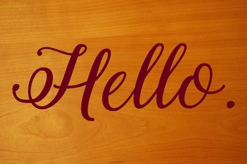 "Hello 10"" x 3.5"" Vinyl Decal Sticker - Front Door Porch Greeting"