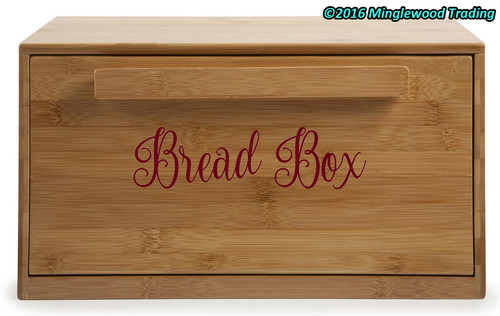 "BREAD BOX 7.5"" x 2"" V2 Vinyl Decal Sticker - Kitchen Breadbox Bread Bin"