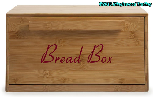 "BREAD BOX 7.5"" x 2"" V3 Vinyl Decal Sticker - Kitchen Breadbox Bread Bin"