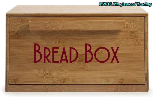 BREAD BOX -V4- Vinyl Sticker - Kitchen Breadbox Bread Bin - Die Cut Decal