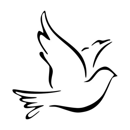 Dove Vinyl Decal - Bird Peace Love Pigeon - Die Cut Sticker