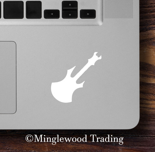 ELECTRIC GUITAR - Vinyl Decal Sticker - Heavy Metal Rock and Roll