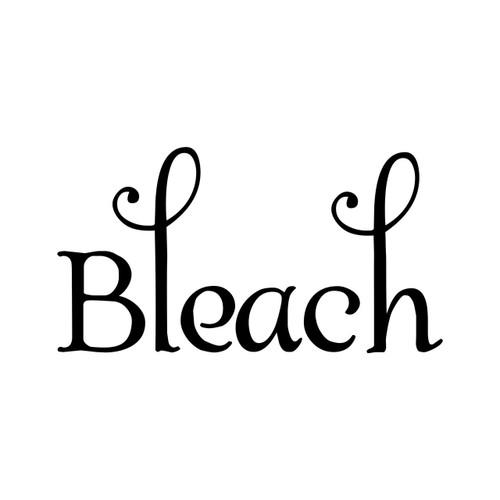 BLEACH Vinyl Sticker - Laundry Room Label Home Organization - Die Cut Decal - Swash