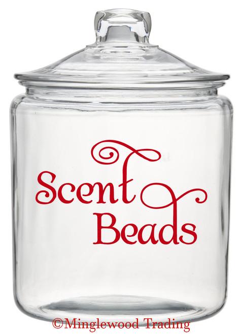 "Scent Beads 5"" x 3"" Vinyl Decal Sticker - laundry Room label SWASH"
