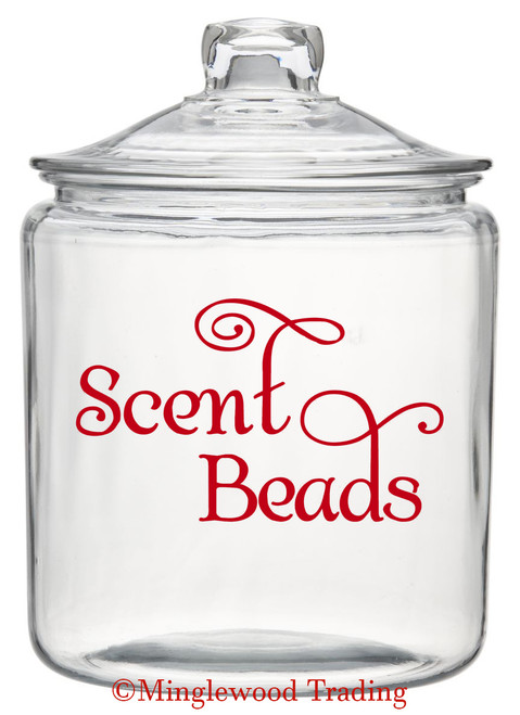 "Scent Beads 5"" x 3"" Vinyl Decal Sticker - laundry Room label SWASH"