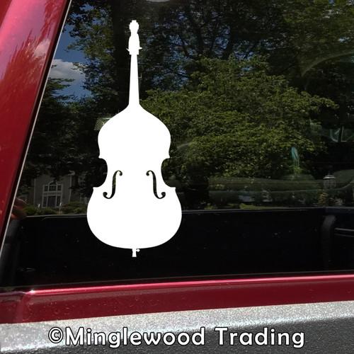 Double Bass - Vinyl Decal Sticker - Upright Bass Bluegrass Jazz