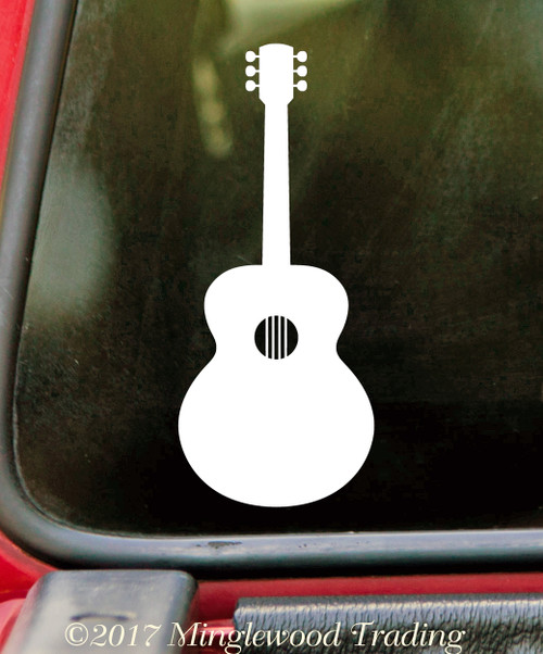 Acoustic Guitar - Vinyl Decal Sticker - Bluegrass Folk Country Music