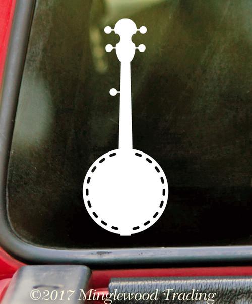 BANJO - Vinyl Decal Sticker - Bluegrass Country Music Picking