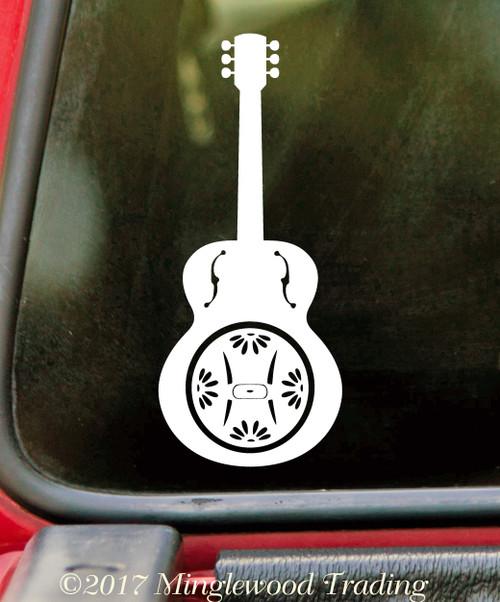 "DOBRO 5"" or 10"" Vinyl Decal Sticker - Guitar - Bluegrass Country Music"