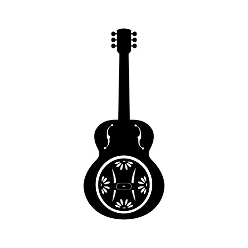 Dobro  Vinyl Decal - Guitar Bluegrass Country Music - Die Cut Sticker