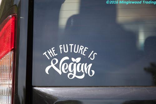 "The Future is Vegan 5.5"" x 3.5"" Vinyl Decal Sticker"
