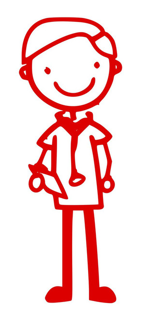 "Male Doctor EMT or Nurse - Vinyl Decal Sticker - 5"" x 2"" Hospital Clinic"
