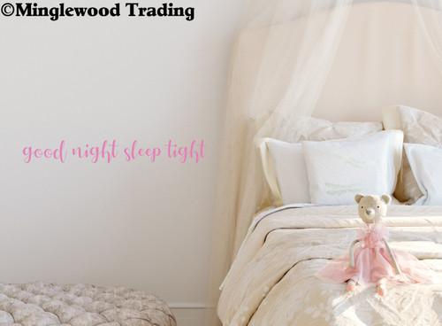 """Good Night, Sleep Tight 20"""" x 2.5"""" Vinyl Decal Sticker - Nursery Crib Wall Decor"""