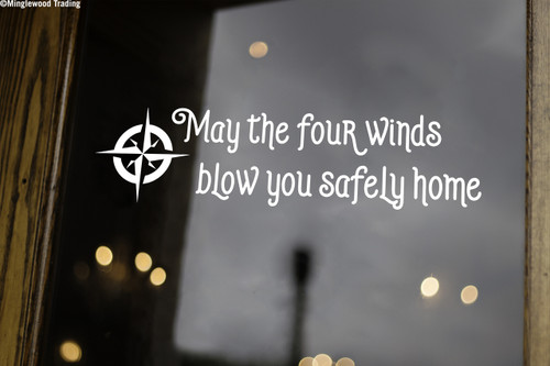 "May The Four Winds Blow You Safely Home 20"" x 5"" Vinyl Decal Sticker - The Grateful Dead - Jerry Garcia"