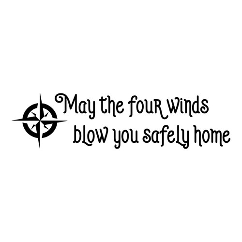 May The Four Winds Blow You Safely Home Vinyl Decal - The Grateful Dead - Jerry Garcia - Die Cut Sticker