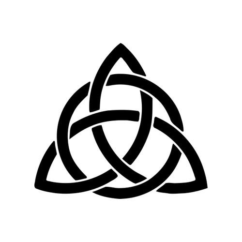 Celtic Trefoil Knot Vinyl Decal - Irish Ireland Trinity Celt Triquetra - Die Cut Sticker