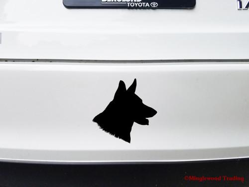 GERMAN SHEPHERD Head Vinyl Decal Sticker - GSD Dog Profile Silhouette
