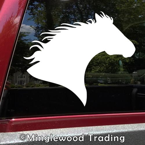 Horse Head -V6- Vinyl Decal Sticker - Equestrian Farm Riding Dressage Equine Profile Silhouette
