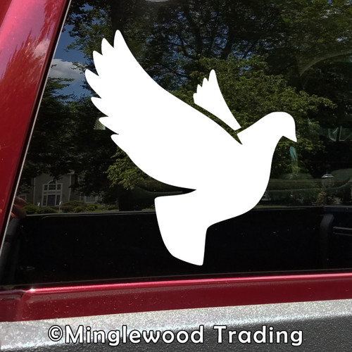 DOVE Vinyl Decal Sticker -V2- Pigeon Peace Love Mother Mary Christian Ishtar
