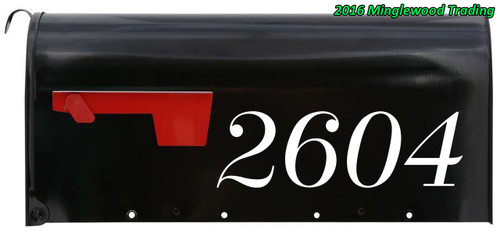 """Fancy Mailbox Numbers - Vinyl Decal Sticker - 1"""" to 10"""" tall - Custom Text for House Address - Name - DUCHESS"""