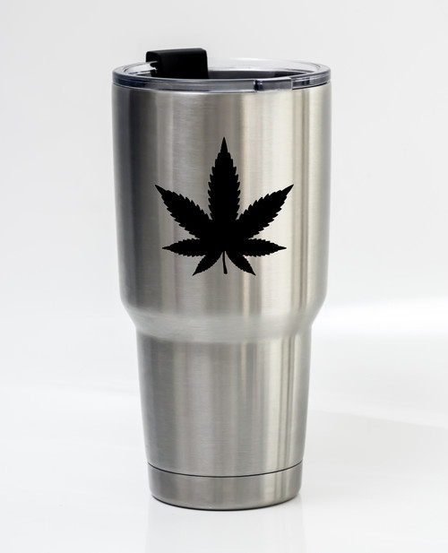 Marijuana Leaf Vinyl Decal Sticker - Cannabis Hemp Pot Indica Sativa CBD THC