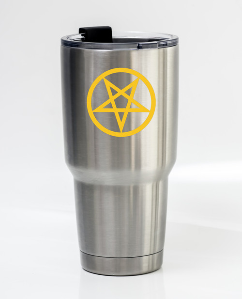 INVERTED PENTAGRAM - Vinyl Decal Sticker - Wiccan Symbol Occult Magical Witchcraft