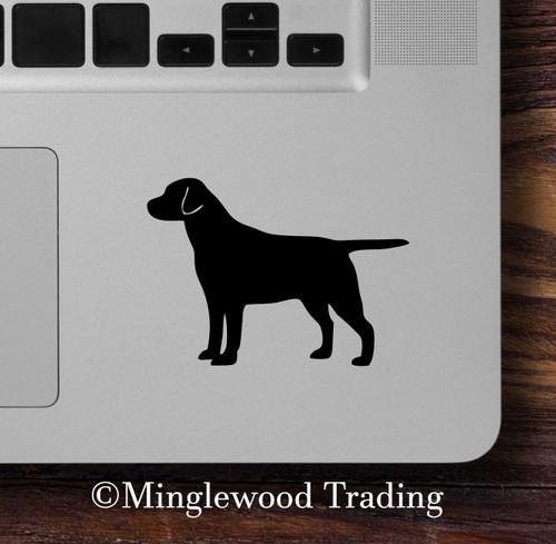 LABRADOR RETRIEVER Vinyl Sticker - Dog Puppy Chocolate Lab - straight tail - Die Cut Decal