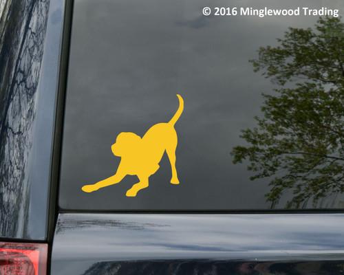 Playful Labrador Retriever Vinyl Decal Sticker - Lab Puppy Dog Rescue Adopt