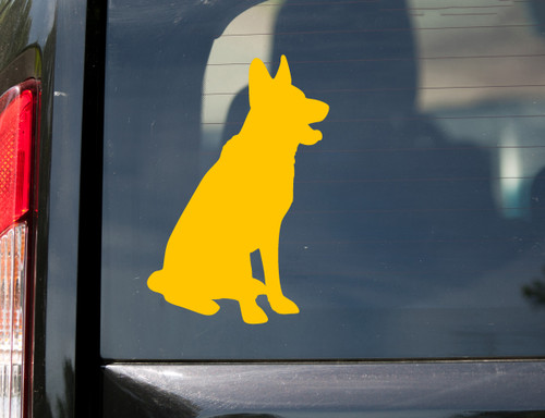 German Shepherd Vinyl Decal V1 - Dog Puppy GSD Alsatian Wolf Canine - Die Cut Sticker