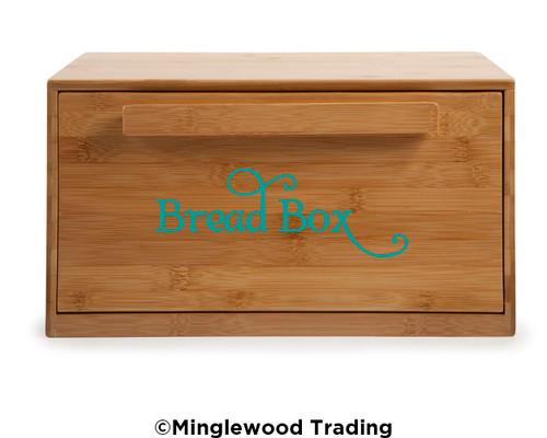 BREAD BOX Vinyl Sticker - Kitchen Breadbox Bin Label - Die Cut Decal - Swash