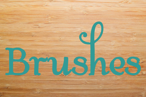 BRUSHES Vinyl Sticker - Bathroom Organization Label - Die Cut Decal - Swash