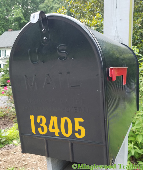 """Mailbox Numbers Vinyl Sticker - 1"""" to 10"""" tall - Custom House Lettering Name Home Office Address - Die Cut Decal BRODY"""