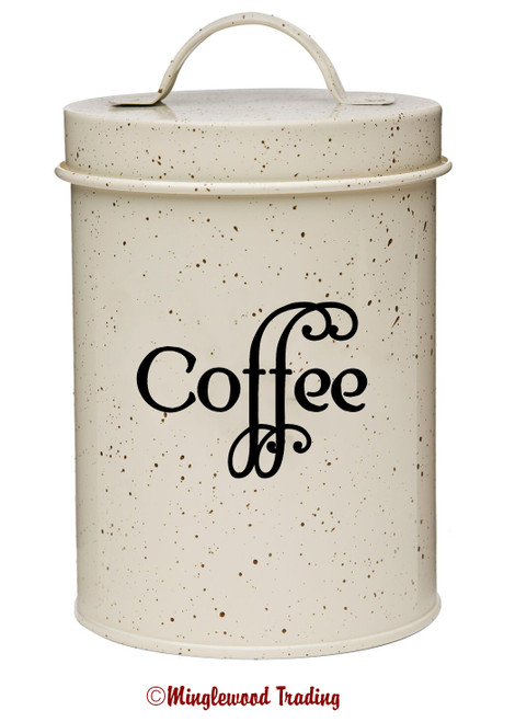 COFFEE Vinyl Sticker - Kitchen Organization Label - Die Cut Decal - Swash