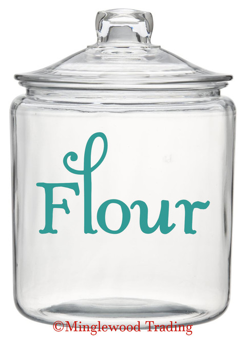FLOUR Vinyl Sticker - Kitchen Organization Label - Die Cut Decal - Swash