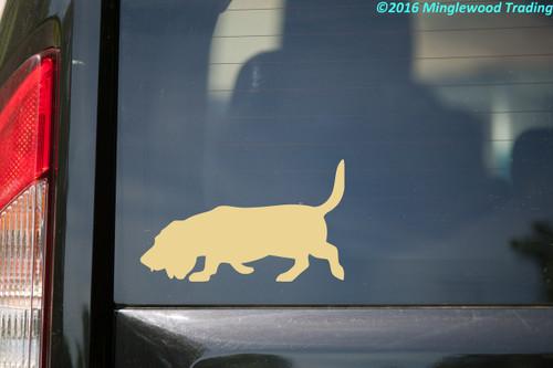 BASSET HOUND Vinyl Sticker - Hush Puppy Dog - Die Cut Decal