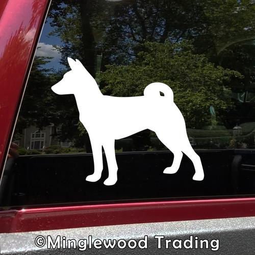 BASENJI Vinyl Sticker - Barkless Dog Puppy African - Die Cut Decal