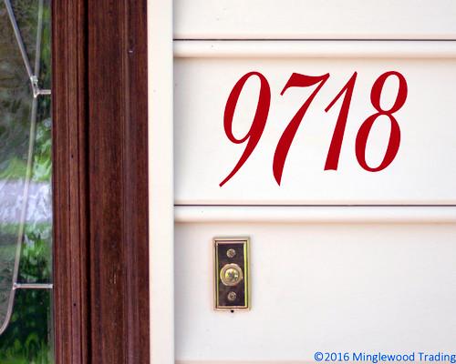 "Elegant Mailbox Numbers Vinyl Sticker - 1"" to 10"" tall - Custom House Home Office Address - Die Cut Decal BAL"