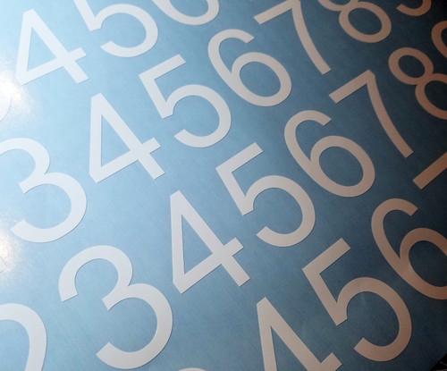 Standard Mailbox Die Cut Numbers - Vinyl Decals Stickers - 4 sets of 0-9 - HLV