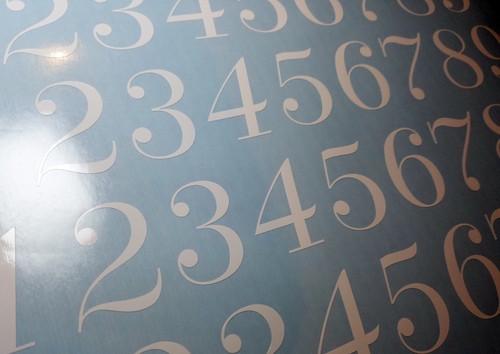 Fancy Die Cut Numbers - Vinyl Decals Stickers - 4 sets of 0-9 - Mailbox - DUCH