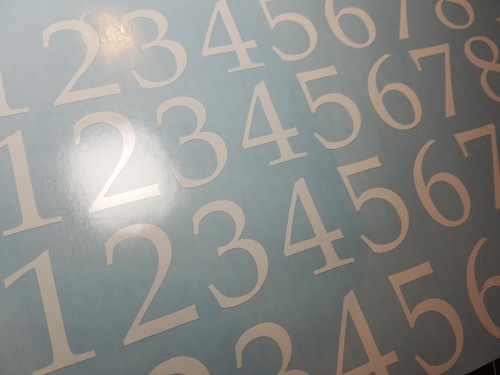 Traditional Die Cut Numbers - Vinyl Decals Stickers - 4 sets of 0-9 - Mailbox - BOOKA