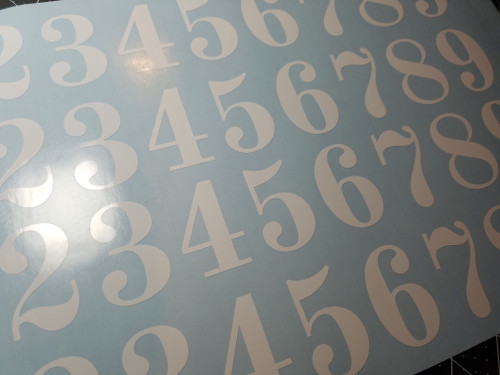 Vintage Die Cut Numbers - Vinyl Decals Stickers - 4 sets of 0-9 - Mailbox - OLDS