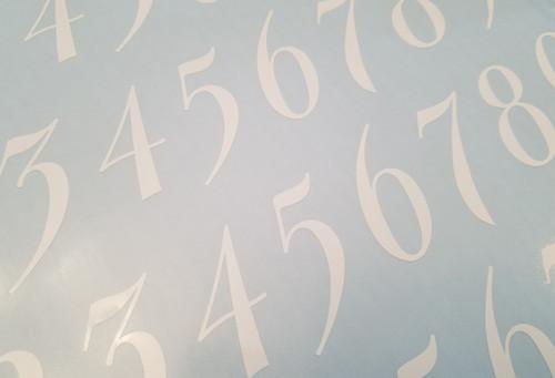 4 sets of Elegant Die Cut Numbers 0-9 Vinyl Decals Stickers - Mailbox - BAL