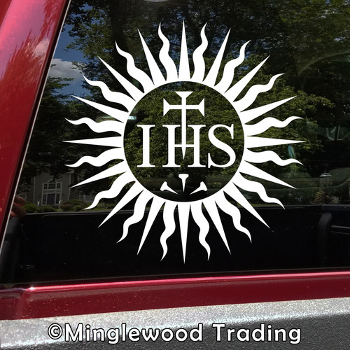 Society of Jesus IHS Vinyl Sticker Jesuits Die Cut Decal