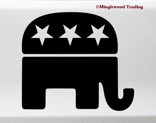 Republican Party elephant logo symbol - vinyl die cut decal sticker by Minglewood Trading.